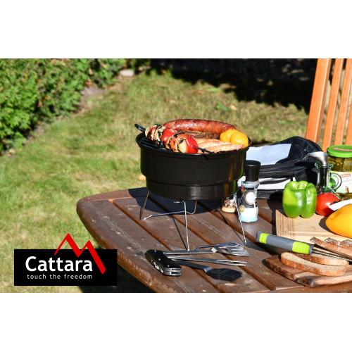 Gril na dřevěné uhlí BOSA přenosný s taškou CATTARA